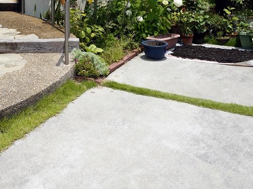 土間コンクリート打ち|門まわりの床材・基礎|千葉 外構・エクステリア