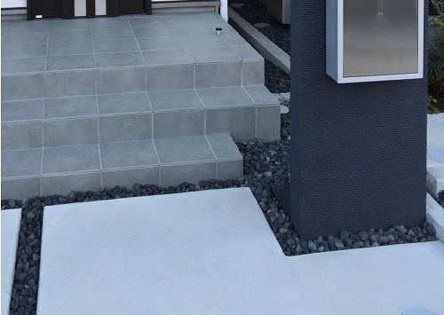 土間コンクリート打ち|門まわりの床材・基礎|千葉 構・エクステリア