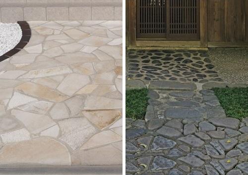 自然石|門まわりの床材・基礎|千葉 外構・エクステリア