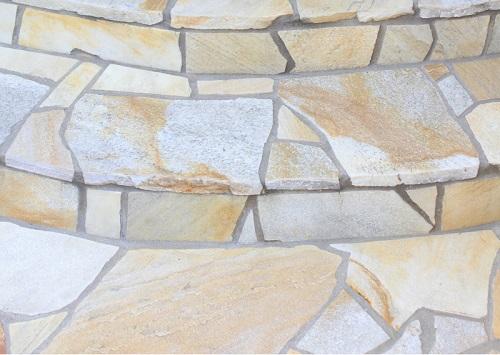自然石|テラスの土台|千葉 外構・エクステリア